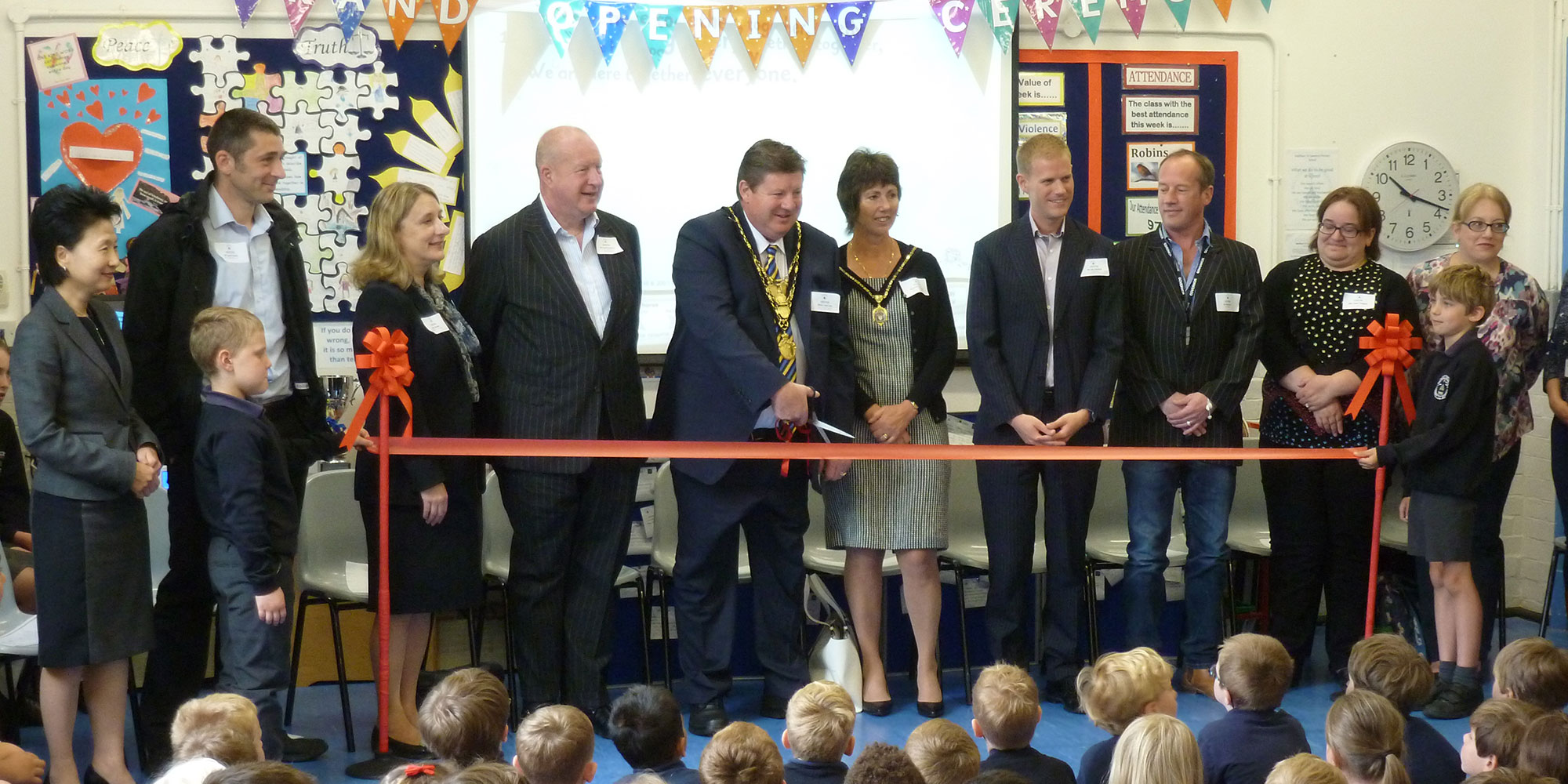 Waltham St. Lawrence Primary School opening ceremony